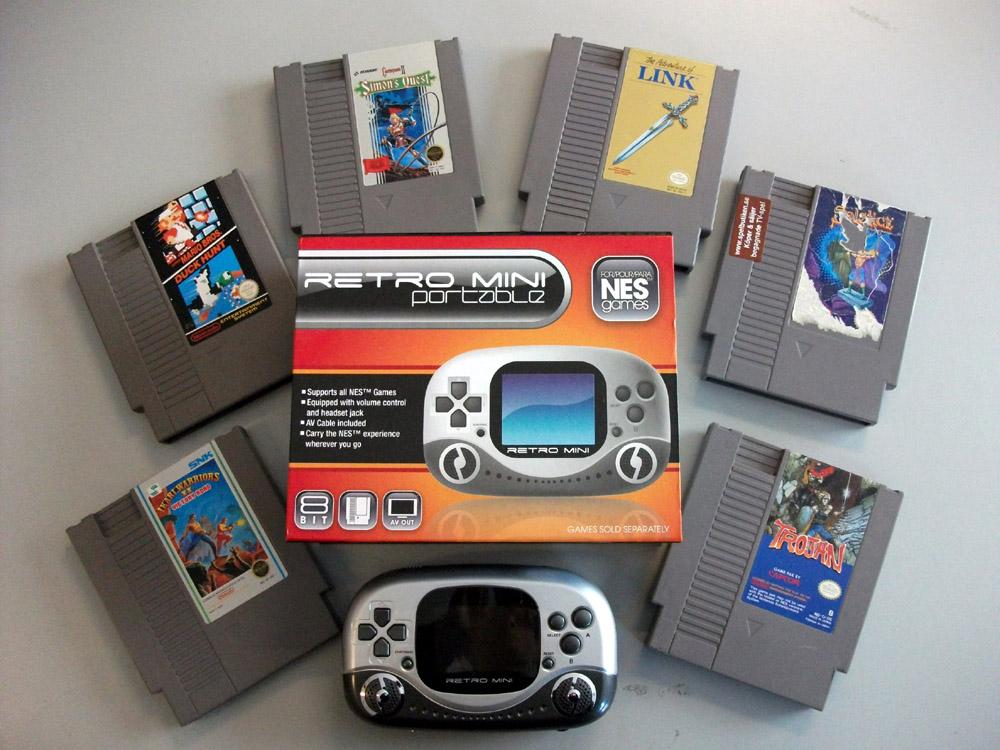 Fonkelnieuw Retrospelbutiken.se - Retro Mini Portable (bärbar NES) + 6 spel MP-77